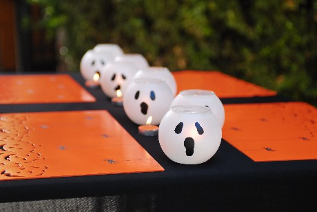 Halloween ghost luminaries
