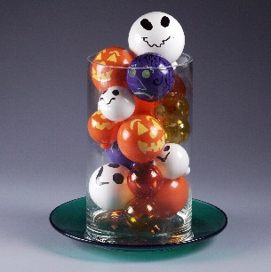 Halloween Glass Ball Decorations