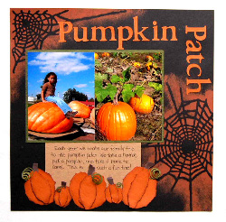 Pumpkin Patch Scrapbook Page