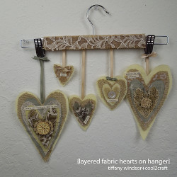 Hanging Fabric Hearts Wall Decor