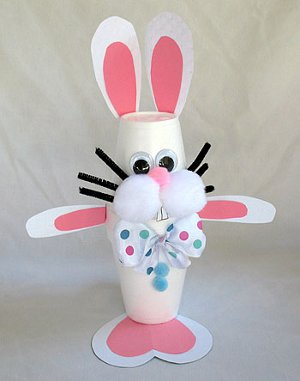 Use Paper Or Styrofoam Cups To Create This Funny Little Easter Bunny Craft Hell Hop His Way Right Into Your Heart Follow The Link For More Details On