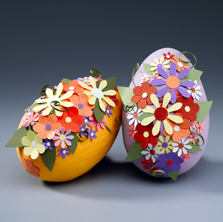 Paper Crafted Easter Eggs