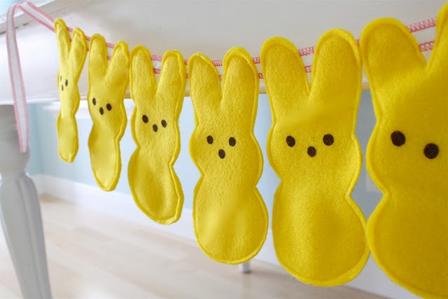 Finished Bunny Peeps Garland
