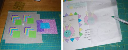 Easter Bunny Applique Pillow Step 1