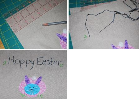 Easter Bunny Applique Pillow Step 5