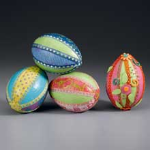 paper and ribbon easter eggs