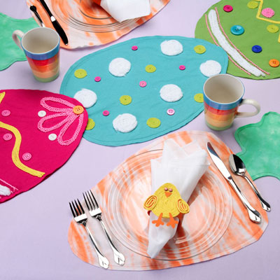 Easter Table Set A Completely DIY Easter Party