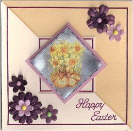 Happy Easter Chicks Card