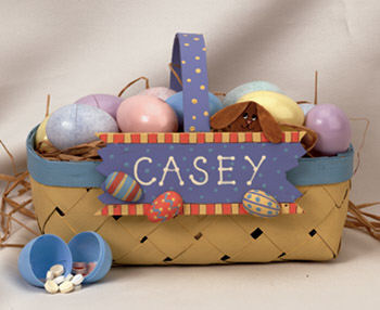 Personalized Easter Egg Hunt Basket