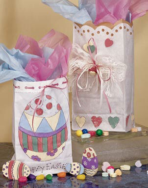 Pretty Easter Gift Bags