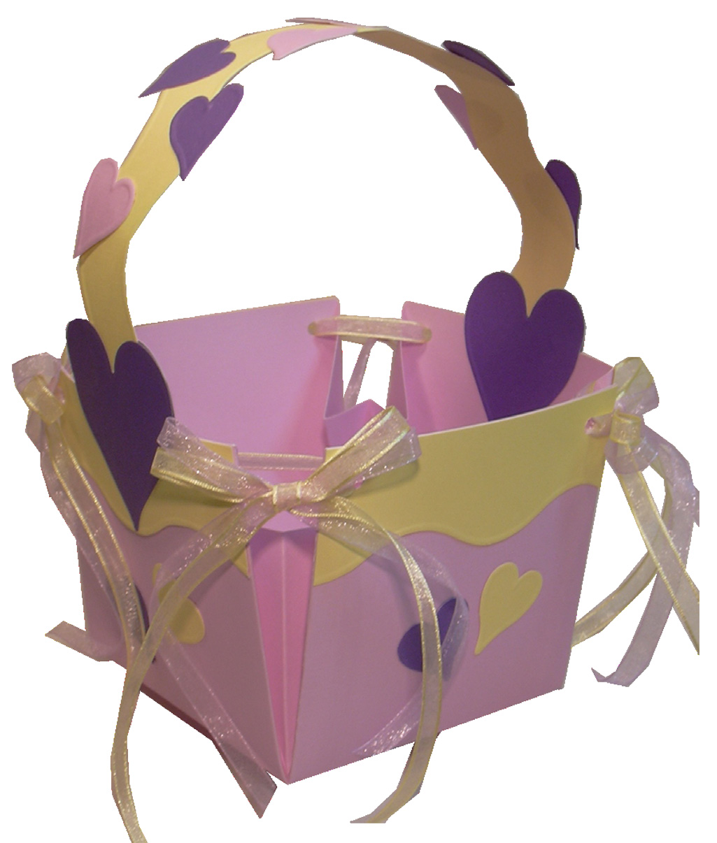 Lilac and Lemon Cardstock Easter Basket FaveCraftscom tCM39O8E