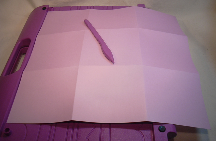 Card Stock Easter Basket Step One