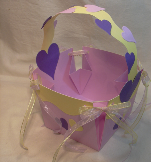 Card Stock Easter Basket Step 12