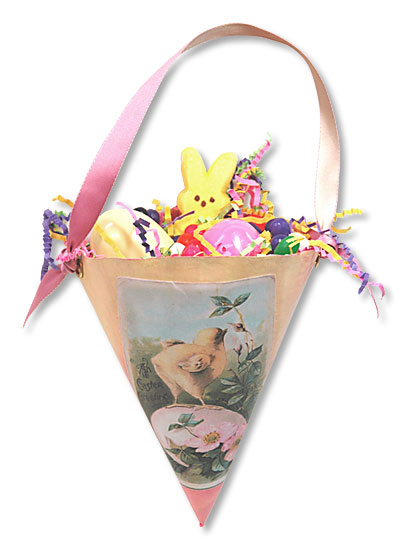 Egg Chick Easter Cone