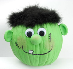 Frankenstein Pumpkin on FaveCrafts.com