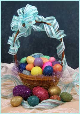 Glittered Easter Egg Project