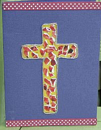 Beaded Easter Card