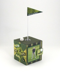 Golf Themed Photo Cube