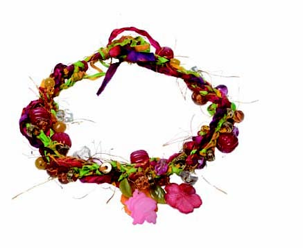 Batik Fiber Necklace