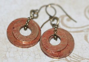Distressed Washer Earrings