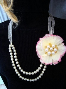 Dollar Store Flower Necklace