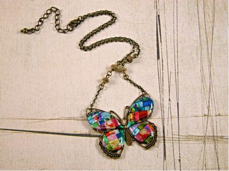 Friendly Plastic Butterfly Necklace