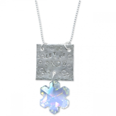 Snowflake Stamped Necklace