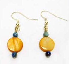 Multistrand Disc Bead Earrings