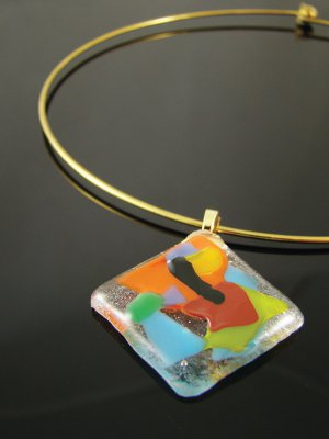 Splash of color pendant