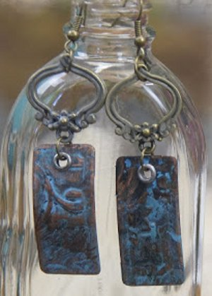 Old World Copper Earrings
