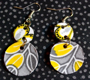 Plastic Cup Dangle Earrings