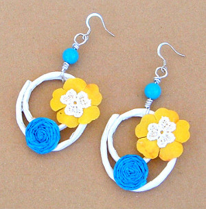 Summer Paper Bag Earrings