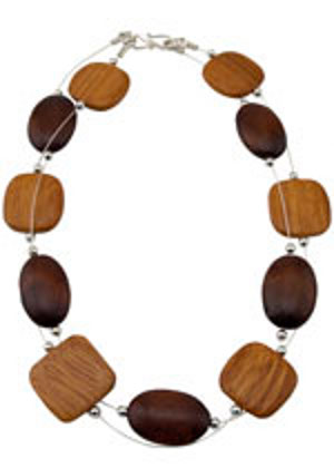 Modern Art Two Strand Necklace