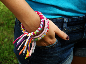 Braided Tee Shirt Bangles