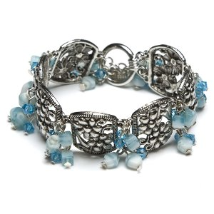 clouds of blue cluster bracelet