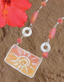 Polymer Clay Sunshine Necklace