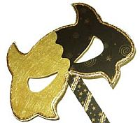 Gold Purim Mask