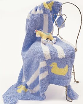 Duck Baby Blanket Pattern | FaveCrafts.com