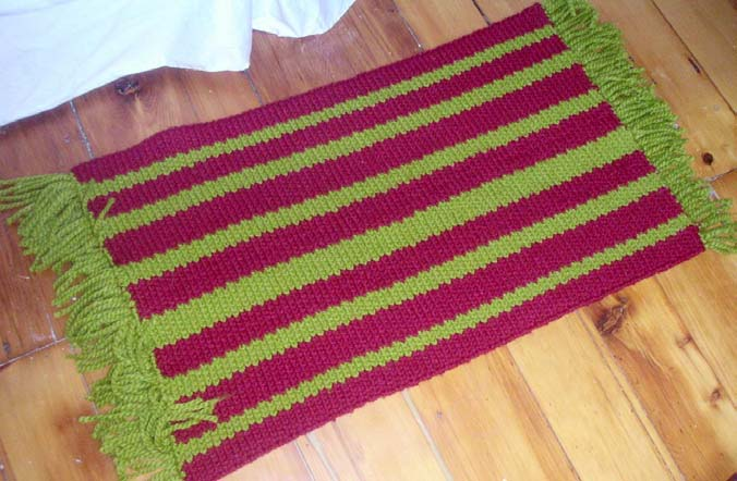 knit stripe rug
