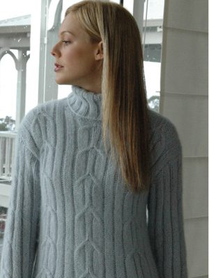 KNITTING PATTERNS REYNOLDS TUNIC TURTLENECK SWEATSHIRT PULLOVERS