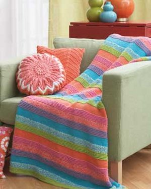 Knitting Patterns For Beginners Afghan : Cake Icing Afghan FaveCrafts.com