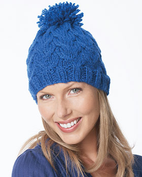 Soft Cable Hat Knitting Pattern : This hat may look intricate in