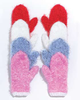 Knitting Pattern For Chunky Wool Mittens : Chunky Knit Mittens AllFreeKnitting.com
