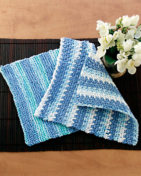 Cotton Stripes Knit Dishcloth