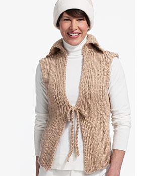Tie Front Knit Vest