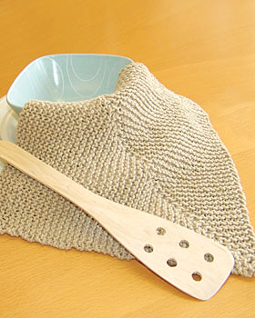 Easy Mitered Knit Dishcloth