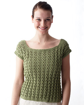 Eyelet Top Knitting Pattern | FaveCrafts.com