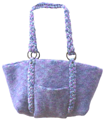 Felted Bag with Braided Handle