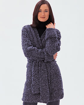 Boucle Long Wrap Sweater