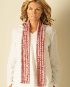 Knit Chain Stitch Scarf